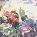 Trevour Waugh | The Old Studio | Original Framed Watercolour Painting | Gift Art | Art Presents | Summer Scenes | Flower Paintings | Contemporary Art | Floral Art | Detail