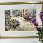 Trevour Waugh | The Old Studio | Original Framed Watercolour Painting | Gift Art | Art Presents | Summer Scenes | Flower Paintings | Contemporary Art | Floral Art | Scale