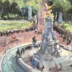 View from Buckingham Palace | Trevor Waugh | Original Oil Canvas | Contemporary Art | Close Up 2