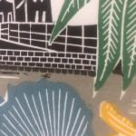 Kate Heiss, Kingfisher at the Mill, Limited Edition Linocut Print, Natural Art, Industrial Art, Bird Art, Animal Art