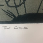 Colin Moore, The Creek, Limited Edition Linocut Print for Sale Online. Title