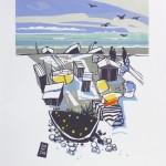mooreFISHFORSALE, colin moore, limited edition linocut print, fishing art, boating art, gifts for men, art for the bathroom