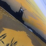 Colin Moore, Cley Twilight, Limited Edition Linocut Print for Sale Online. Rural Art, Cley Windmill, British Landmarks