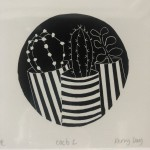 Kerry Day, Cacti 2, Lino Print for Sale Online