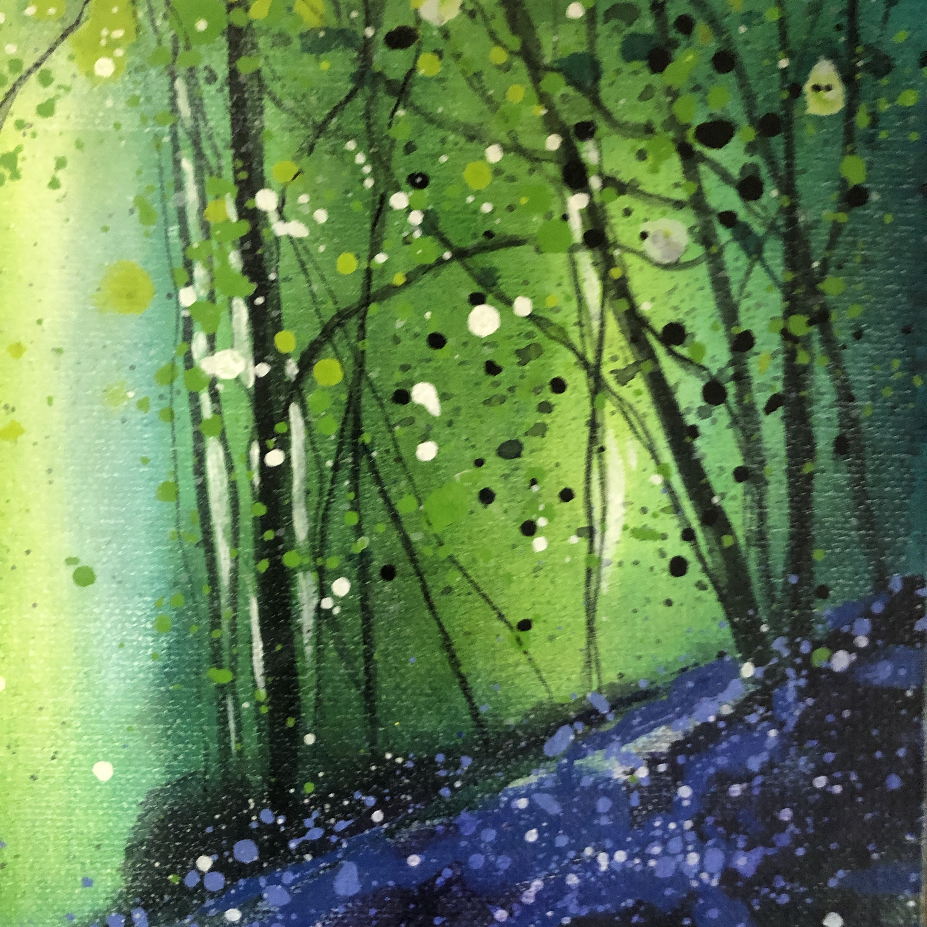 Bluebell Wood is an original Landscape painting by Adele Riley.