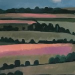 Eleanor Woolley | Linseed Fields | Landscape | Impressionistic | Section 2