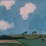 Eleanor Woolley | Linseed Fields | Landscape | Impressionistic | Section 4