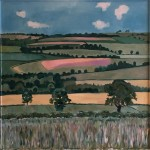 Eleanor Woolley | Linseed Fields | Landscape | Impressionistic