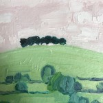 Eleanor Woolley, The Copse 1, Original Oil Landscape Painting 3