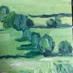 Eleanor Woolley, The Copse 1, Original Oil Landscape Painting 4