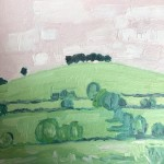 Eleanor Woolley, The Copse 1, Original Oil Landscape Painting 6