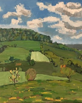 Eleanor Woolley | The Sstroud valley | Landscape | Impressionistic