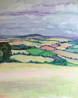 Eleanor Woolley | View from May Hill | Landscape | Impressionistic