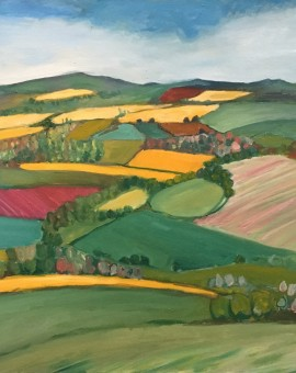 Eleanor Woolley | Yellow Fields | Landscape | Impressionistic