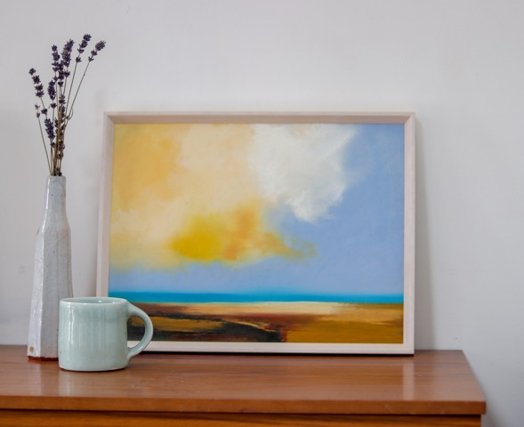 Constantine Bay is an original seascape painting by Sophie Berger.