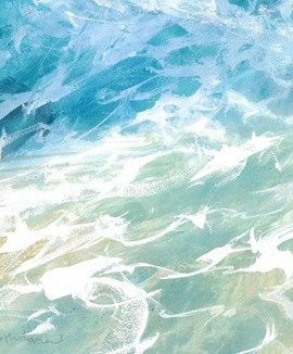 Breakers V is a limited edition giclee print by James Bartholomew. Bartholomew's impressionist style and liberal application of highlights brings the stormy sea to life.