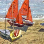 Limited Edition James Bartholomew Print for Sale, Mirror Dinghies, Abersoch 3, Boating Art, Seascape Art, Art of Wales copy 4