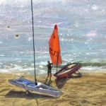 Limited Edition James Bartholomew Print for Sale, Mirror Dinghies, Abersoch 3, Boating Art, Seascape Art, Art of Wales copy 5
