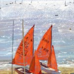 Limited Edition James Bartholomew Print for Sale, Mirror Dinghies, Abersoch 3, Boating Art, Seascape Art, Art of Wales copy 6