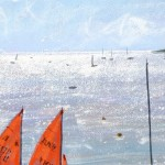 Limited Edition James Bartholomew Print for Sale, Mirror Dinghies, Abersoch 3, Boating Art, Seascape Art, Art of Wales copy 8