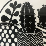 Limited Edition Kerry Day Cacti Print, Linocut Art Print, Contemporary Floral Art 3