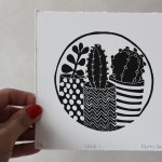 Cacti 1 is an open edition linocut print by Kerry Day.
