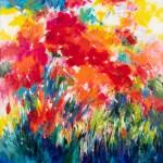 Mary Chaplin, poppies in full sun Wychwood Art