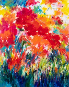 Mary Chaplin, poppies in full sun Wychwood Art