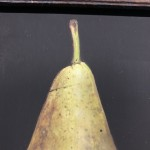 Original Dani Humberstone Oil Painting, Conference Pear, Framed Contemporary Painting, Food Art, Art for the Kitchen 6