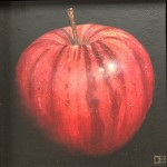Original Dani Humberstone Oil Painting, Very Red Apple, Framed Contemporary Painting, Food Art, Art for the Kitchen