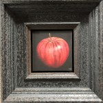 Original Dani Humberstone Oil Painting, Very Red Apple, Framed Contemporary Painting, Food Art, Art for the Kitchen 2