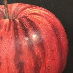 Original Dani Humberstone Oil Painting, Very Red Apple, Framed Contemporary Painting, Food Art, Art for the Kitchen 7