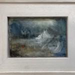 Original Jemma Powell Painting, Red Buoy in Storm, Turneresque Paintings for Sale, Contemporary Artists Influenced by Turner 10