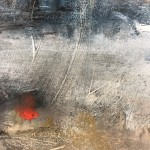Original Jemma Powell Painting, Red Buoy in Storm, Turneresque Paintings for Sale, Contemporary Artists Influenced by Turner 6