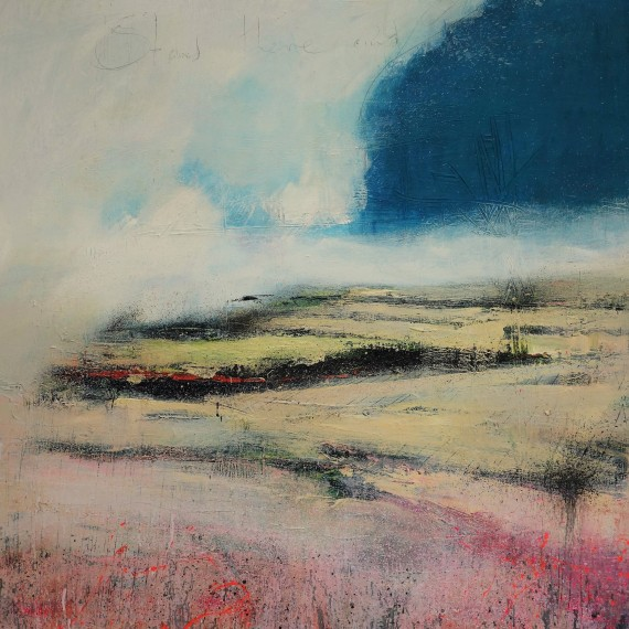 Stand There and Breathe is and original mixed media painting by Barry Kelly.
