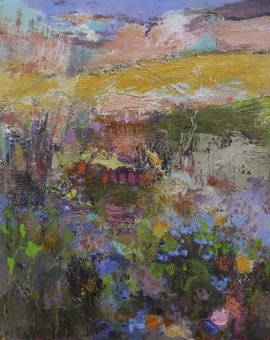 T Pemberton Flowers in the Meadow 50 x 50 oil on canvas 72dpi 7561