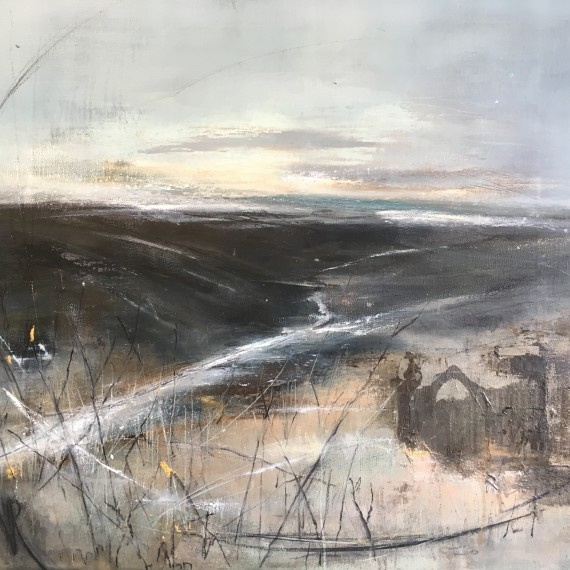 Monochrome landscape painting for sale