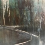 Virginia Ray Shaded Pond Wychwood Art close up 1 jPG
