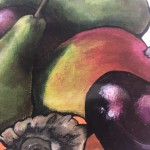 Limited Edition Lucy Routh Giclee Print, Abundance of Colour. Food Art, Fruit Art, Art for the Kitchen.
