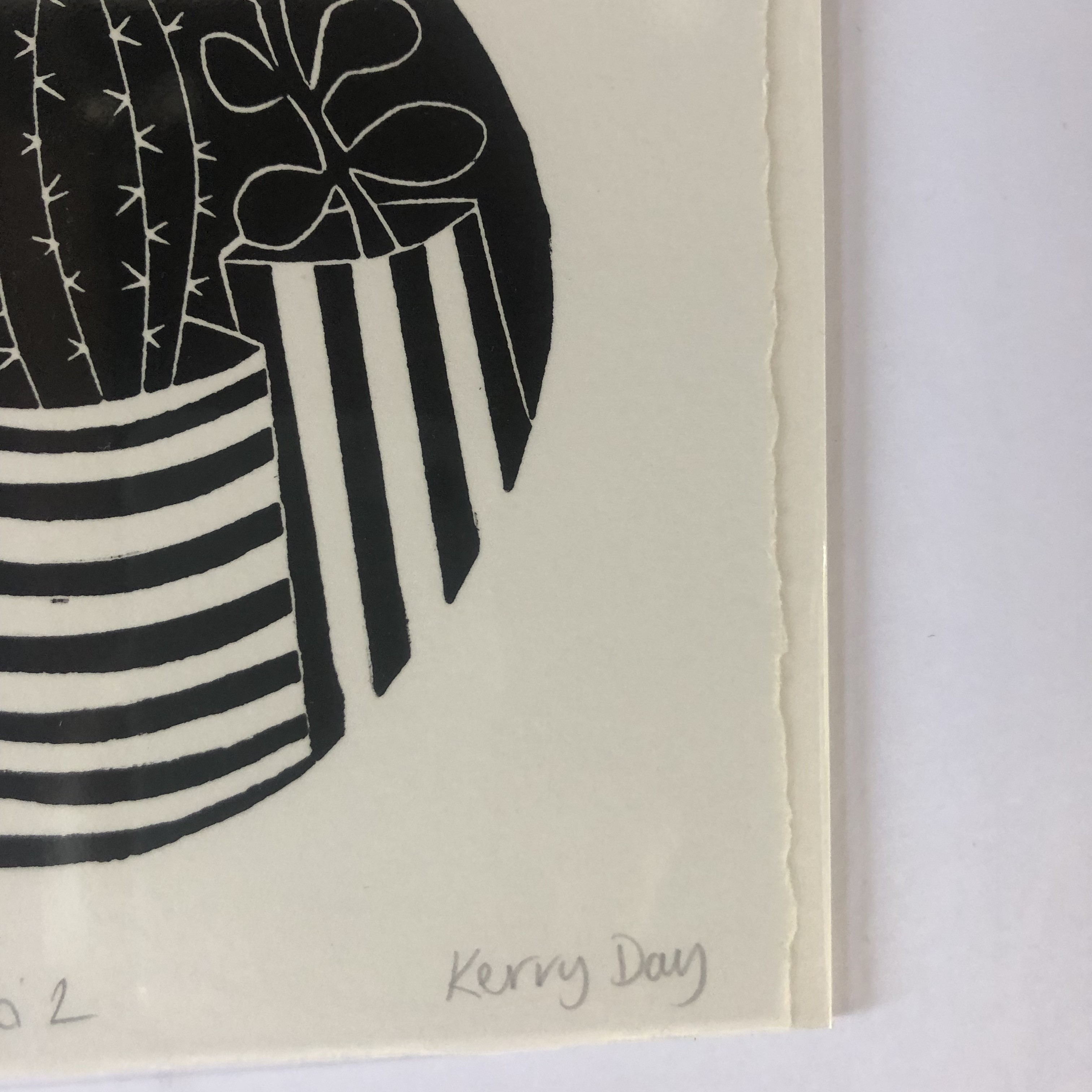 Cacti 2 is an open edition linocut print by Kerry Day.
