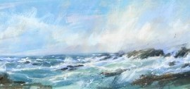 Terns Over the Point is a limited edition giclee print by James Bartholomew.