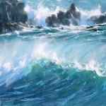 James Bartholomew print for sale of crashing waves westerly squall