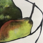 Limited Edition Lucy Routh Giclee Print, Just Pears. Food Art, Fruit Art, Art for the Kitchen.