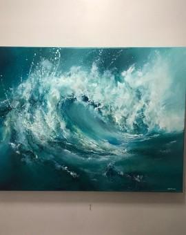 Alison Johnson, The Break, Original Painting, Abstract Art