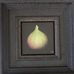 Dani Humbertone, Original Oil Painting, Green Fig, Food Art, Art for Your Kitchen