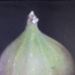 Dani Humbertone, Original Oil Painting, Green Fig, Food Art, Art for Your Kitchen 3