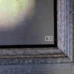 Dani Humbertone, Original Oil Painting, Green Fig, Food Art, Art for Your Kitchen 4