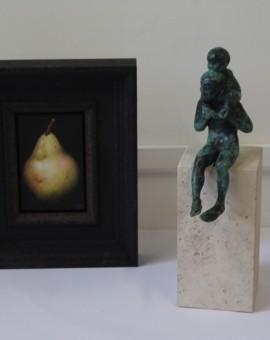 Dani Humbertone, William Pear, Original Oil Painting, Food Art, Art for the Kitchen 12