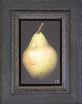 Dani Humbertone, William Pear, Original Oil Painting, Food Art, Art for the Kitchen