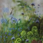 Dylan Lloyd, Island Garden Border V, Original Landscape Painting, Nature Art